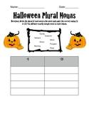 Halloween Plural Noun Sort