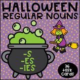 Regular Plural Nouns adding -s -es- ies- Halloween Theme