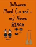 Halloween Plural Nouns (-s and -es) BINGO
