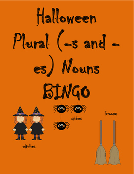 Halloween Plural Nouns (-s and -es) BINGO
