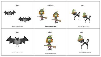 Halloween Plurals Exercise in English {FREEBIE}