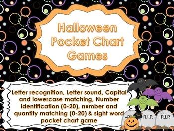 Halloween Pocket Chart Games for Kindergarten CCSS
