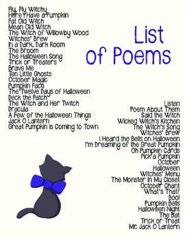 Halloween Poem Bundle!
