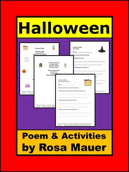 Halloween Night Poetry Literacy Packet