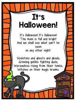Halloween Poems by Hillary Kiser   Teachers Pay Teachers