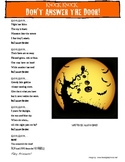 Halloween Poem: Making Inferences (Aligned to Common Core)