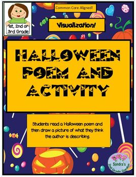 Halloween Poem and Activity  1st, 2nd or 3rd Grade  Common Core Aligned