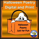 Halloween Poetry - Fun Poems for Reading and Writing  w/ T