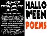 Halloween Poetry Analysis Journal