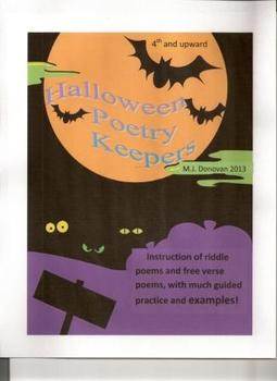Halloween Poetry Keepers (Riddle Poems and Free Verse)