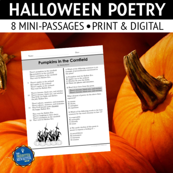 Halloween Poetry Passages