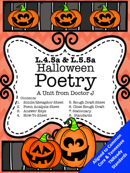 L4.5a L5.5a Halloween Poetry Similes and Metaphors Common