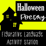Halloween Poetry Station - Figurative Language Poetry for