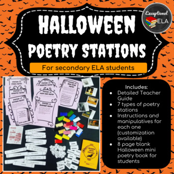 Halloween Poetry Stations for Secondary ELA