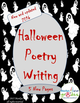 Halloween Themed Poetry Unit - Updated - Extra Activities