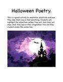 Halloween Poetry adjective hunt