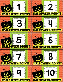 Halloween Points (Incentives, Games, Behavior, Rewards) FREE!