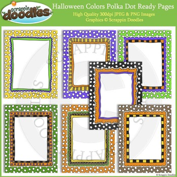 Halloween Polka Dot 8 1/2 x 11 Ready Pages