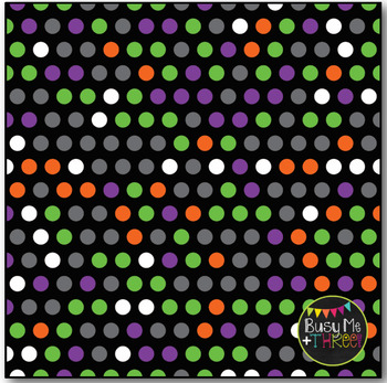 Halloween Polka Dots on Black Digital Papers {Commercial Use Digital Graphics}