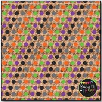 Halloween Polka Dots on Burlap Digital Papers {Commercial Use Digital Graphics}