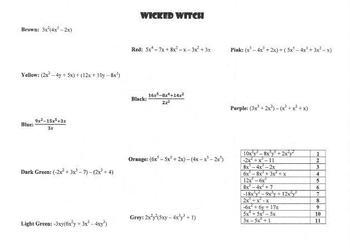 Halloween Polynomial Practice