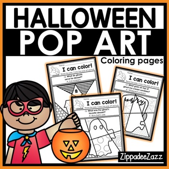 Halloween Pop Art Coloring Pages