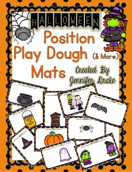 Halloween Position Words Play Dough (and More) Mats PLUS Recipes!
