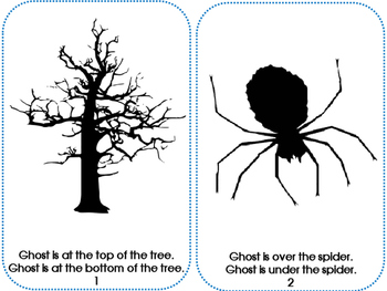 Halloween Positional Concepts Where Is Ghost? Book and Drawing