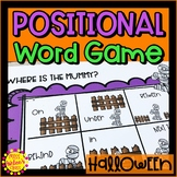 Halloween Positional Word Game | Mummy | Special Education and Autism Resource