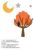 Halloween Positional Words Worksheet