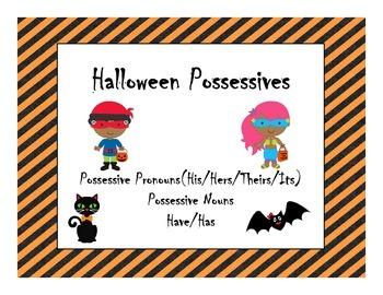 Halloween Possessive Nouns and Pronouns