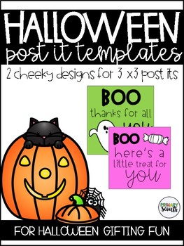 Halloween Post It  Templates