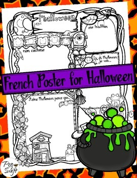 Halloween Poster ~ French ~ L'halloween
