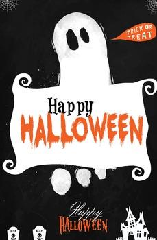 """Halloween Poster """"Happy Halloween"""""""