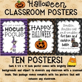 Halloween Poster Set for the Classroom