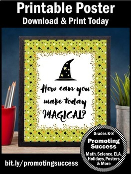 Halloween Poster, Motivational Quote Classroom Decor