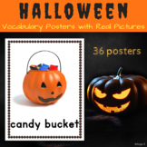 Halloween Vocabulary Posters for Autism, Speech Therapy