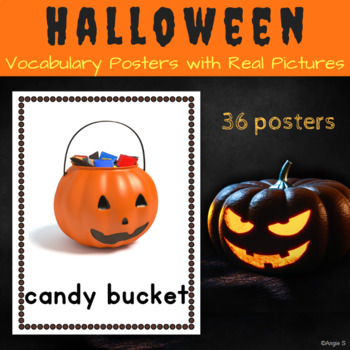 Halloween Vocabulary Posters for Autism, Special Ed, Speec