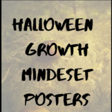 Halloween Posters Growth Mindset