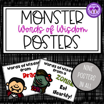 "Halloween Posters - Monsters ""Words of Wisdom"""
