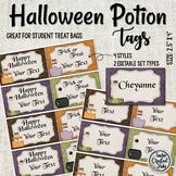 Halloween Potion Tags - Halloween Gift Tags - Name Tags