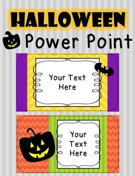 Halloween Power Point {Editable}