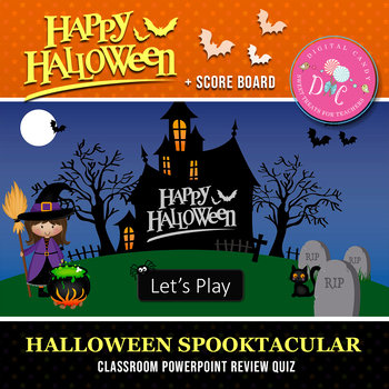 halloween powerpoint classroom review quiz by digital candy tpt