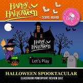 Halloween PowerPoint Classroom Review Quiz
