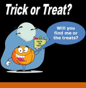 Trick or Treat Halloween PowerPoint - Whole Class Review Game