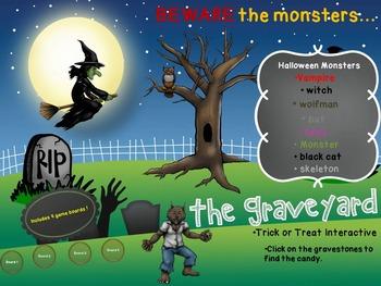 Halloween PowerPoint Interactive Activity - The Graveyard