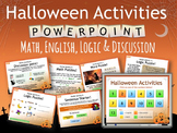 HALLOWEEN Fun lesson energizers for Grades 3 - 6 EAL + MATH