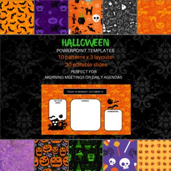 Halloween powerpoint template by smart language arts tpt halloween powerpoint template toneelgroepblik Choice Image