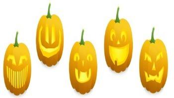 Halloween Powerpoint Layout Template Pumpkins