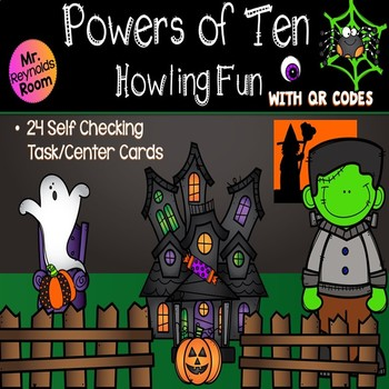 Halloween Math Powers of 10 Activity with QR Codes